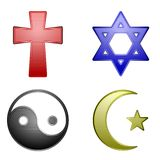 Religion icons Stock Photography