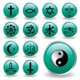 Religion icons. Vector collection of religion icons Royalty Free Stock Image