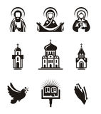 Religion icons. Authors illustration in vector Royalty Free Stock Images