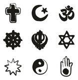 Religion Icons Freehand Fill. This image is a vector illustration and can be scaled to any size without loss of resolution Stock Images