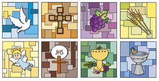 Religion icons. Illustration of religion icons isolated vector illustration