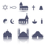 Religion icons set Stock Image