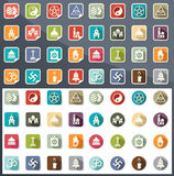 Religion icons vector Royalty Free Stock Image