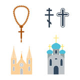 Religion icons vector illustration. Royalty Free Stock Photo