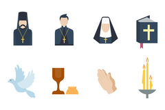 Religion icons vector illustration. Stock Images