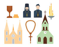 Religion icons vector illustration. Royalty Free Stock Images