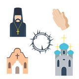 Religion icons vector illustration. Royalty Free Stock Image