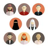 Religion icons. Vector image of collection of flat icons of religion Royalty Free Stock Image
