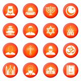 Religion icons vector set Royalty Free Stock Photos