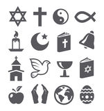 Religion icons Royalty Free Stock Photography