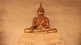 Religion Image Smilingly d'or de Buddhas Photographie stock libre de droits