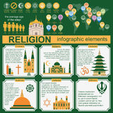 Religion infographics stock abbildung