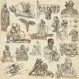 Religion, la vie d'esprit, religieuse - une collection tirée par la main sur o illustration stock