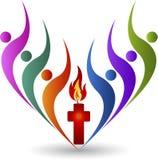 Religion logo. Illustration art of a religion logo with background stock illustration