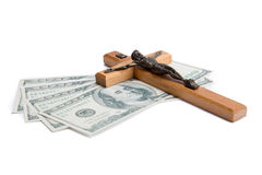 Religion or money Royalty Free Stock Photo