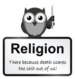 Religion. Monochrome religion and death sign isolated on white background vector illustration
