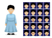 Religion Mormon Dress Cartoon Emotion Faces Vector Illustration Royalty Free Stock Image