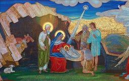 Religion. Mosaic of Saints. Orthodox church in Kirowograd Ukraine Royalty Free Stock Photo
