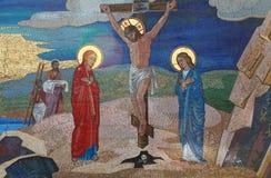 Religion. Mosaic of Saints. Orthodox church in Kirowograd Ukraine Royalty Free Stock Photos