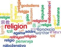 Religion multilanguage wordcloud background concept Stock Photography