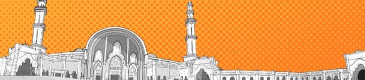 Religion musulmane Ramadan Kareem Holy Month de bâtiment de mosquée de Nabawi Photo libre de droits
