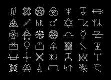 Religion och filosofi, andlighet eller ockultism royaltyfri illustrationer