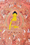 Religion painting in Tibet traditional style Royalty Free Stock Image