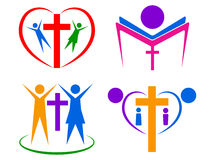 Religion people logo Royalty Free Stock Photos
