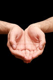 Religion prayer hands Stock Photo