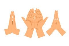 Religion praying hands Royalty Free Stock Images