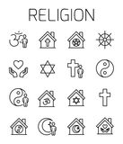 Religion related vector icon set. Stock Photo