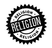 Religion rubber stamp. Grunge design with dust scratches. Effects can be easily removed for a clean, crisp look. Color is easily changed Stock Photo