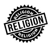 Religion rubber stamp. Grunge design with dust scratches. Effects can be easily removed for a clean, crisp look. Color is easily changed Stock Image