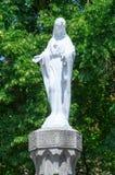 Religion sculpture at John The Baptist`s Roman Catholic church in Malbork. Stock Image
