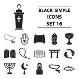 Religion related icon set vector illustration