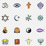 Religion set icons Stock Photo