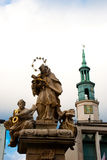 Religion statue. With chapel in poland Royalty Free Stock Photos