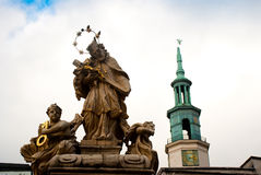 Religion statue. With chapel in poland Stock Image