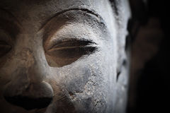 Sculpture of buddha closeup Royalty Free Stock Photos