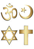 Religion symbols Royalty Free Stock Photos