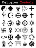 Religion symbols. 30 pieces of religion symbols Royalty Free Stock Photography