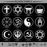 Religion symbols. All religion in the signs and symbols Royalty Free Stock Photography