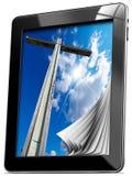 Religion - Tablet-Computer mit Seiten Stockbilder