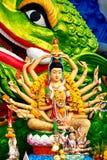 Religion, Thailand. Guanyin Statue, Wat Plai Laem, Big Buddha Te. Religion In Thailand. Statue Of Eighteen Arms Guanyin ( Shiva, Buddha Cundi Bodhisattva ) With Stock Image