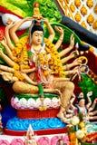 Religion, Thailand. Guanyin Statue, Wat Plai Laem, Big Buddha Te. Religion In Thailand. Statue Of Eighteen Arms Guanyin ( Shiva, Buddha Cundi Bodhisattva ) With Royalty Free Stock Image