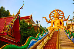 Religion, Thailand. Wat Phra Yai, Big Buddha Temple At Samui. Royalty Free Stock Photo