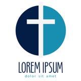 Religion vector logo design template. crucifixion Stock Image
