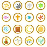 Religion vector set, cartoon style Royalty Free Stock Image