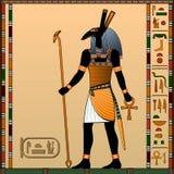 Religion von altem Ägypten stock abbildung