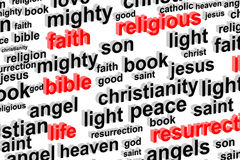 Religion Word Cloud Concept Royalty Free Stock Photography